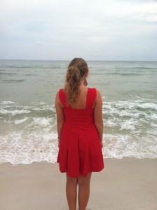red dress back